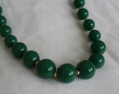 Lucite Forest Geen Beaded Necklace