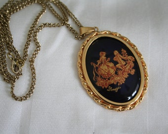 Limoges Proposal Design Pendant Necklace