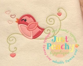 Spring Song Bird Machine Embroidery Applique Design Buy 2 for 4! Use Coupon Code 50OFF