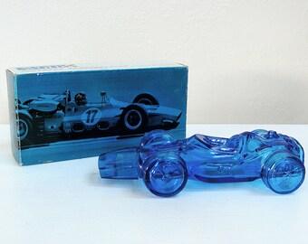 Vintage Aftershave AVON Vintage Race Car Mens Collectibles Graphic boxes Sure Winner Race Car 1970s Glass