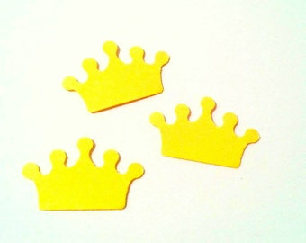 Confetti - 200 CARDBOARD crowns - Yellow - Crown - Flavors - Spring - Summer - Wedding - Baby shower - Love