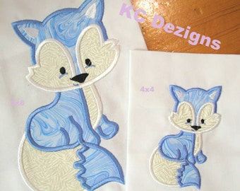 Polar Fox Machine Applique Embroidery Design - 4x4, 5x7 & 6x8