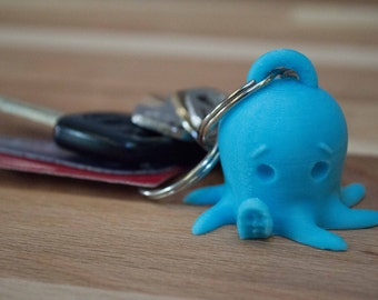 Octopus Key Chain 3D Printed Cute Kawaii Octopus