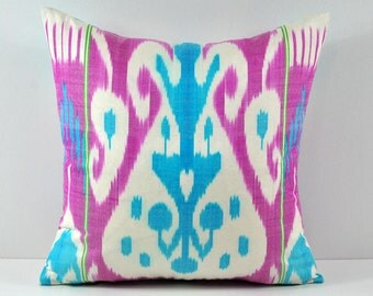 Ikat Pillow, Handmade Ikat Pillow Cover a552, Ikat throw pillows, Designer pillows, Ikat Pillows, Decorative pillows, Accent pillows