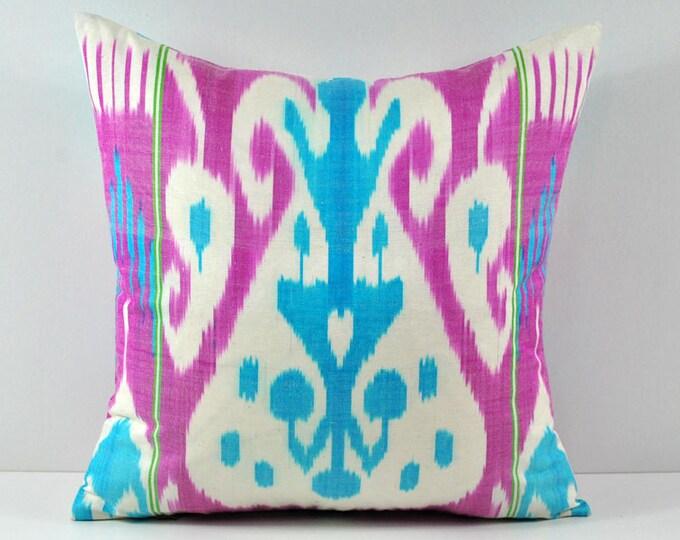 Ikat Pillow, Handmade Ikat Pillow Cover a552, Ikat throw pillows, Designer pillows, Ikat Pillows, Decorative pillows, Accent pillows