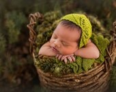 Knitting Pattern - Asymmetry Newborn Bonnet - Newborn Photography Prop