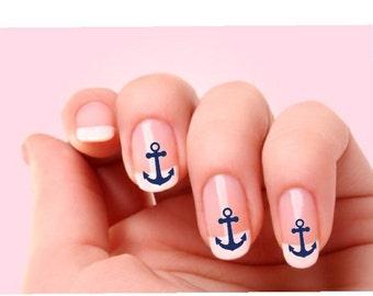 Anchor Nail Stickers - Decals - Nail Art Designs - Nail stickers - Nail Stencils-  Nail Wraps - Custom decals - Vinyl Decals -