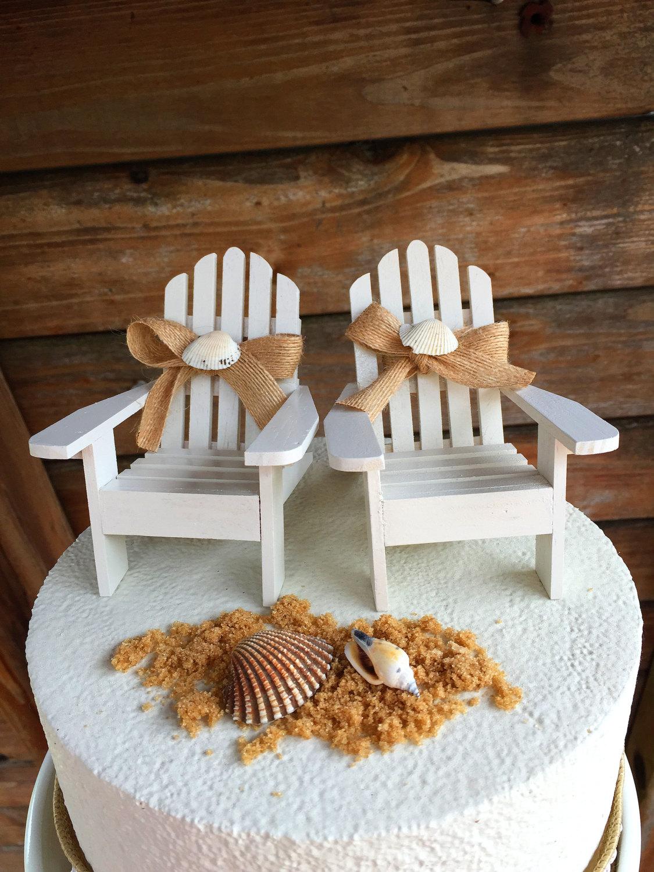 Adirondack Beach Chair Wedding Cake Toppers Wedding Cake