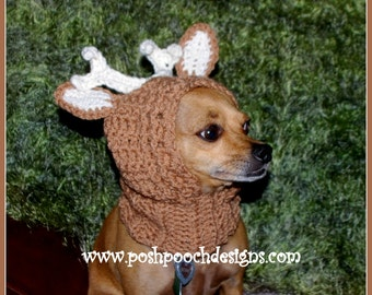 Deer Antler Dog Snood Instant Download Crochet Pattern