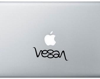 Vegan ambigram vinyl decal
