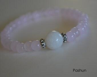 Yoga Stretch Bracelets ... Pink Beads (1387)