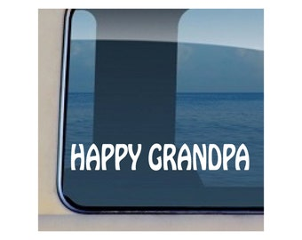 Happy Grandpa Decal Family Father Vinyl Sticker 112