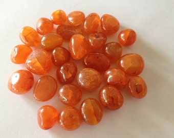 Carnelian tumbles smooth polished 880 carats Big size tumbles entire lot