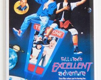 Bill & Ted's Excellent Adventure Movie Poster Fridge Magnet