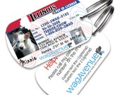 Custom Dog Tag - Illinois Driver's License Pet Tag - Personalized Pet Tag, Dog Tag, Stainless Steel Tag, Dog Tags for Dogs, Dog License Tag