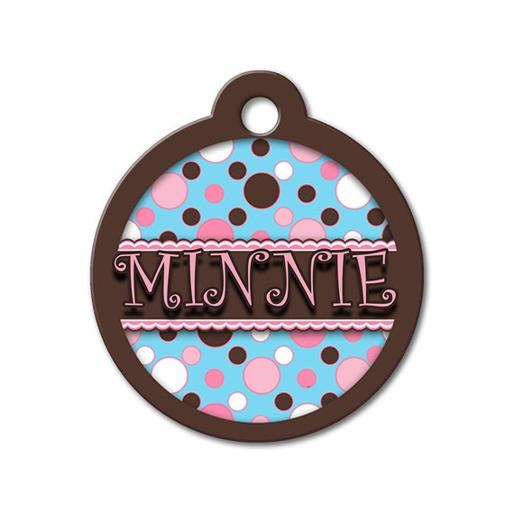 Cute Dog Tags - Dip N Dots - Personalized Pet Tags, Custom Pet Tags, Dog ID Tags, Stainless Steel Tags, Dog Tags for Dogs, Designer Pet Tags