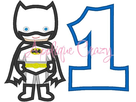 Batboy with the Number 1 Applique design