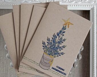 Texas Bluebonnet Christmas Note Cards- Set of 20