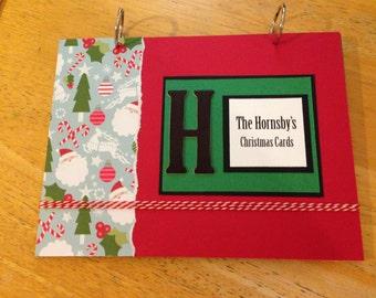 Christmas Cards Keepsake Book. Card Organization. Card Storage. Holiday Cards.