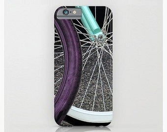 Bicycle Mobile Case, 3D, Cycling, Sports, Athletic, Purple, Turquoise, iPhone 6, Mobile Device Accessories, Plastic, 6 Plus, 5/5s 4/4s