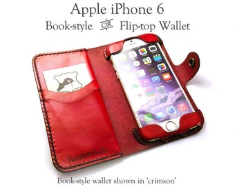 iPhone 6s Leather Wallet Case / iPhone 6 Leather Cover / Leather iPhone - No Plastic - Free Inscription