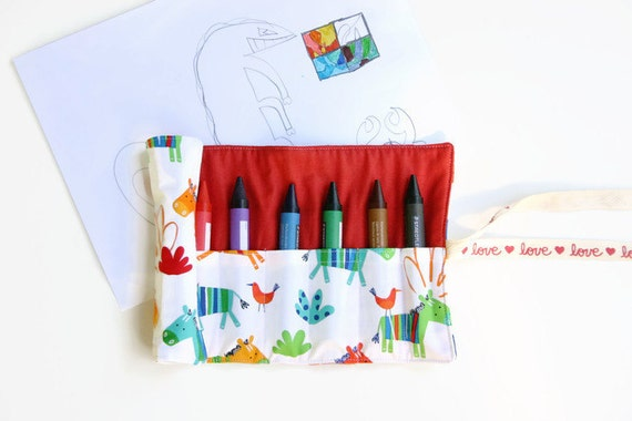 Fox And Friends Crayon Roll 6 Super Jumbo Crayons