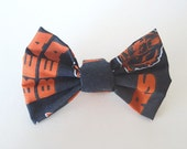 PET BOW: Chicago Bears Inspired Pet Bow for Dogs or Cats // Gifts for Dogs // Dog Bow Tie // Pet Bow Tie