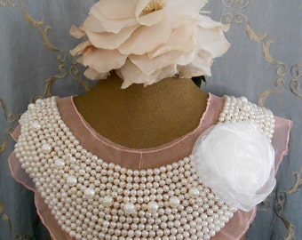 White Pearl Beaded Appliques