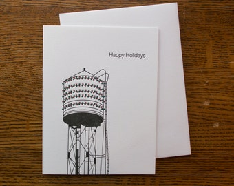 Water tower Holiday Card