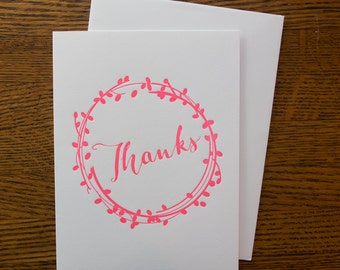 Wreath Thank You card