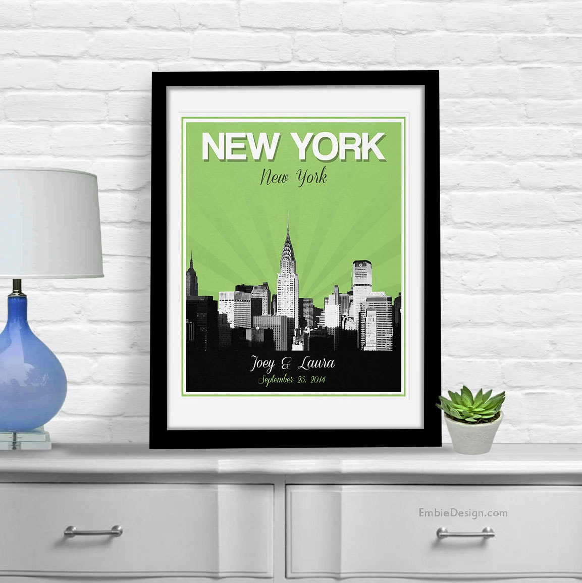 Unique Wedding Gifts Nyc : New York City Wedding Gift Personalized Anniversary