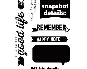 Elle's Studio - Everyday Moments Happy Note Stamps  -- MSRP 8.00
