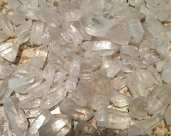 Clear quartz raw crystal points, sold by 20 gram bags