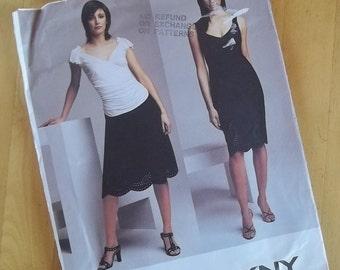 Uncut Vogue 2741 - DKNY - Misses Petite Dress, Top and Skirt - Size 14-18