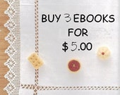 Buy 3 Ebooks for USD 5.00, PDF Patterns, Free Shipping