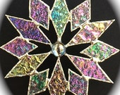 stained glass snowflake suncatcher (design 4B)