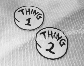 "5"" Thing 1 and Thing 2 Iron on"