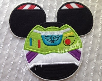 Buzz Lightyear  Inspired MOUSE Head Characters  Iron on  Appliqué Patch