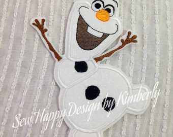 FROZEN  HAPPY OLAF Inspired Iron on Appliqué  Patch