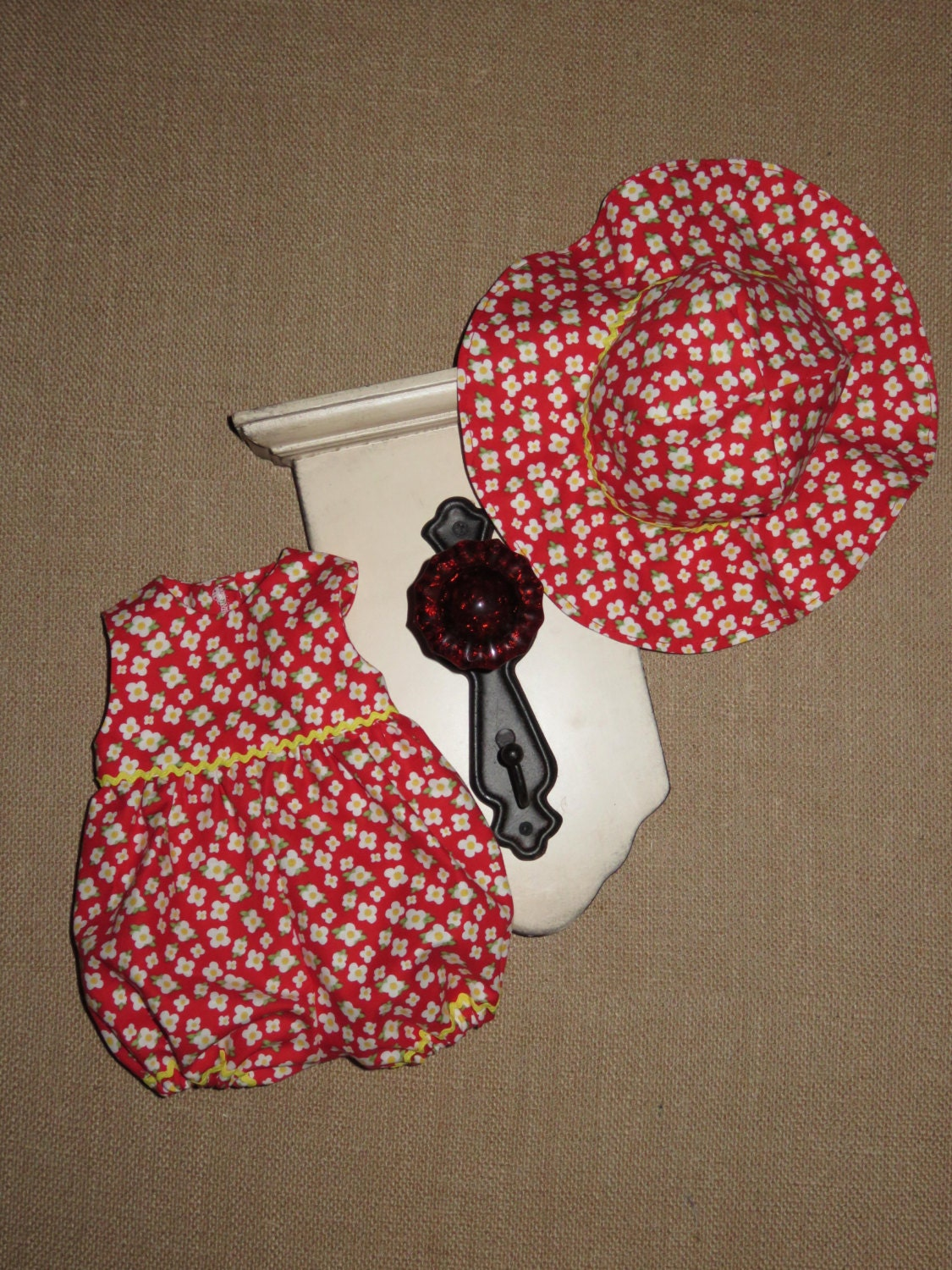 Handmade 16 18 Inch Baby Doll Clothes Red Yellow & White