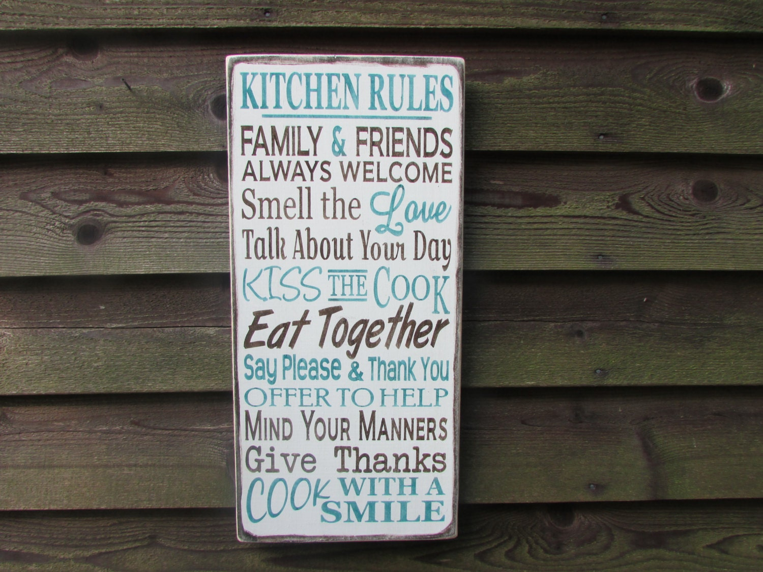 Family rules kitchen rules country home decor kitchen for Kitchen decoration signs