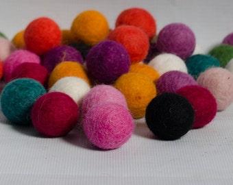 Multicolored felt balls 2 cm 5000  pieces, wholesale felt balls, craft supplies, felt craft supplies