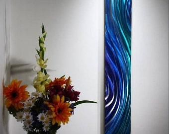 Wilmos Kovacs Vertical Metal Wall Sculpture, Metal Wall Art, Rainbow Art W170