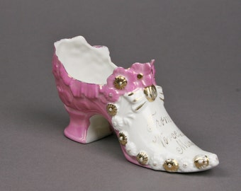 vintage german porcelain shoes etsy. Black Bedroom Furniture Sets. Home Design Ideas