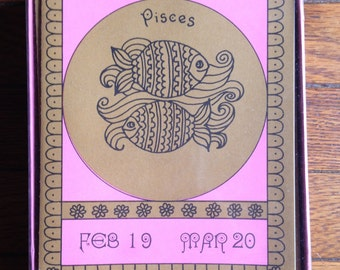70s Pisces Note Cards