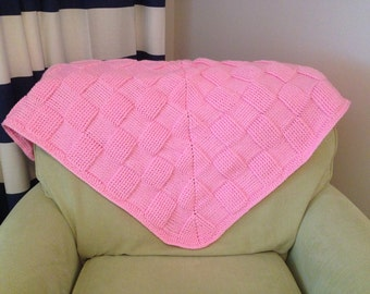 Chunky Pink Baby Blanket
