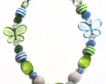 DIY Chunky Necklace Kit - Butterfly Garden
