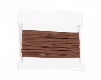 Stretch Elastic 1/8th inch Skinny Elastic for making headbands  - 5 or 10 or 20 yard bundles - LATTE
