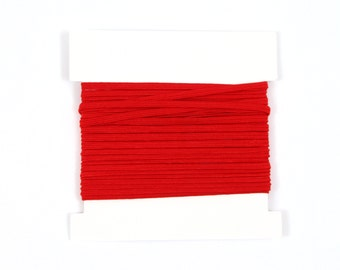 Christmas Stretch Elastic 1/8th inch Skinny Elastic for making headbands - 5 or 10 or 20 yard bundles - RED