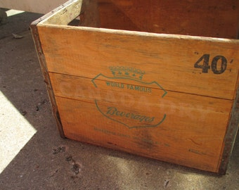 Canada Dry Crate, Vintage Soda Crate, Home Decor, Wedding Decor, Photography, Prop
